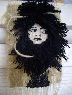 "Rachel Hine ""wild girl"" -Hemp, cotton, linen, wool, binding ---2014 ---100 x 70 x 25 mm"