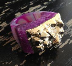 SALE Dara Ettinger JILL Top Gold Dipped Druzy Ring by daraettinger, $65.00