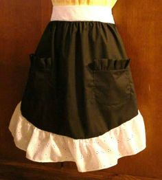 #craftshout Check out this item in my Etsy shop https://www.etsy.com/listing/224604280/half-apron-ruffled-half-apron-retro