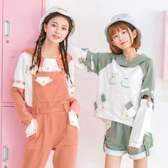 Best Friend Outfits, Couple Outfits, Girl Outfits, Cute Skirt Outfits, Cute Skirts, Korean Girl Fashion, Japanese Fashion, Harajuku Fashion, Kawaii Fashion