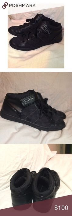 coach high tops lightly worn // I still have the original box // 39 days until donating; make an offer Coach Shoes Sneakers