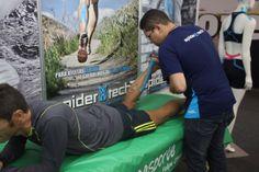 Aplicação SpiderTech em atleta
