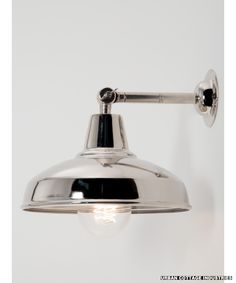 esigner wall light silver | silver shade