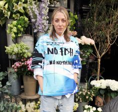 Spotted at Liberty HQ!  Womenswear Buyer Rhian is seen wearing Kenzo's No Fish sweatshirt, made in collaboration with the Blue Marine Foundation to support the fight against overfishing.  Shop the @Maurício Kenzo Yamasaki collection: http://www.liberty.co.uk/fcp/categorylist/dept/kenzo-womenswear  #styleinspiration