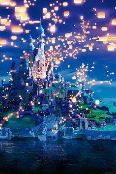 【人気3位】【アニメ】宝石のような夜景の壁紙