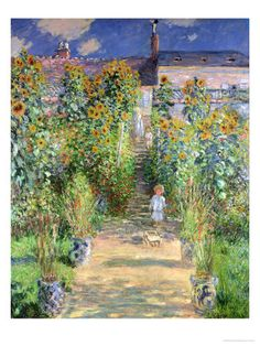 The Artist's Garden at Vetheuil, 1880 Giclee Print at AllPosters.com
