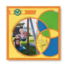 Life Was Good Today CCS Circle Patterns #Scrapbooking Layout Idea from Creative Memories    www.creativememor...