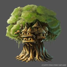 TreeHouse by flukekung on DeviantArt