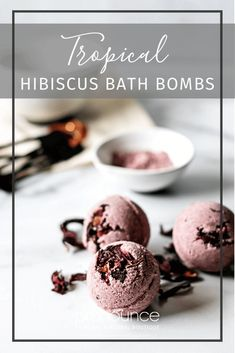 Tropical Hibiscus Bath Bombs Recipe (transport yourself to paradise   naturally boost collagen - Pronounce Skincare