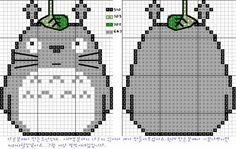Totoro for cross stitch pattern. I am so making this Hama Beads Patterns, Beading Patterns, Embroidery Patterns, Cross Stitch Charts, Cross Stitch Designs, Cross Stitch Patterns, Cross Stitching, Cross Stitch Embroidery, Pixel Crochet