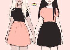 girl, lesbian, and lgbt image Lesbian Pride, Lesbian Art, Lesbian Quotes, Bisexual Pride Makeup, Bff Quotes, Friend Quotes, Crush Quotes, Yuri, Art Lesbien
