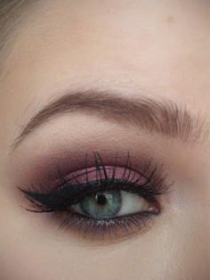 love thing...: Valentine's Make-Up - Dramatic Cranberry Eyes