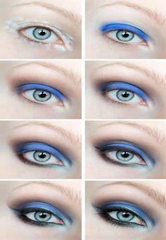 Dressed in mint: make up. - KOBALT / Step by step Makeup Geek, Diy Makeup, Makeup Addict, Blue Makeup, Beauty Tutorials, Makeup Tutorials, Eye Tutorial, Tips Belleza, Smokey Eye Makeup