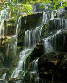 I love tiered waterfalls...but this one looks oh to familiar...Yellowbranch Falls, is that you??