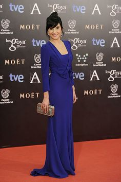 Marian Álvarez en la alfombra roja de los premios Goya 2014