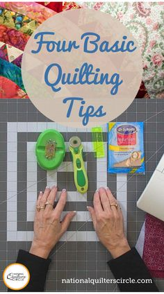 Accuracy and consistency are important when piecing quilt blocks and assembling a quilt top. Learn several quilting tips and see different quilting supplies and tools that Toby Lischko recommends using that can help improve your piecing. Quilting For Beginners, Quilting Tips, Quilting Tutorials, Quilting Patterns, Small Quilt Projects, Quilting Projects, Sewing Projects, Sewing Machine Thread, Machine Quilting