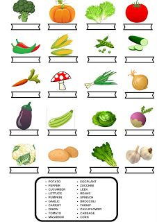 vegetables exercise