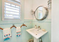 Custom Nautical Mirror Beach Bathroom Decorating Ideas