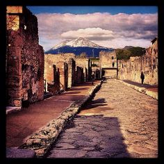 Pompeii, Italy - of course, a major point on our itinerary.