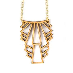 Art Deco Jewelry Long Gold Necklace Layering Necklace art