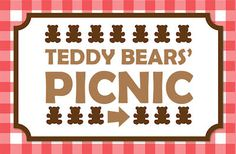 FREE Printable Teddy Bears Picnic sign. http://www.mypaperplanet.com.au/free-stuff