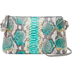 Carlos Falchi Small Python Crossbody ($379) ❤ liked on Polyvore featuring bags, handbags, shoulder bags, multi, shoulder strap bag, python print handbag, crossbody handbags, crossbody purse and snake print handbag