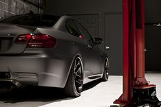 BMW M3 Frozen Black Edition complete with competition, premium, and convenience packages — the Frozen Black features a four liter V8 good for 414 hp and a 0-60 time of 4.5 seconds thanks to the M DCT dual-clutch transmission, matte black exterior paint, black M3 GTS wheels, red brake calipers, black Novillo leather seats with red contrast stitching, heated seats, a premium sound system, and the exclusivity that comes from being one of only 20 examples ever made.