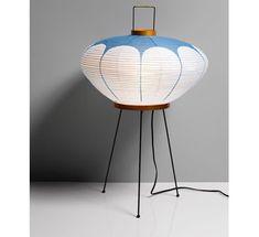Standing Blue Lamp by Isamu Noguchi, 1952
