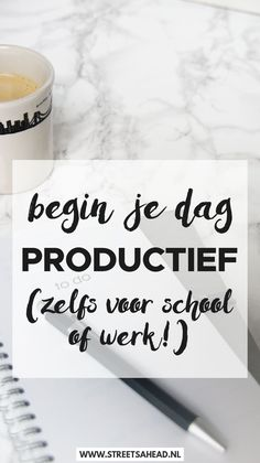 Je dag productief beginnen (zelfs voor school of werk) - Streets Ahead Cognitive Psychology, Learn To Run, Miracle Morning, Leadership Coaching, Study Tips, Getting Things Done, Getting Organized, Stress, Mindfulness