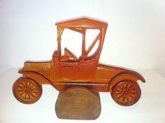 Cast Relief Bronze Car