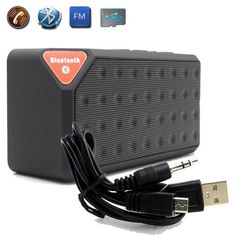 Wooden Wireless Bluetooth Speaker Subwoofer Stereo Sound Box Hands-free O1o3 Audio Docks & Mini Speakers