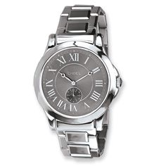 a1b497e53acd Mens Chisel Tungsten and Stainless Steel Grey Dial Watch