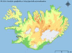 Map of Iceland with the location of Thingvellir, where the Althing took place.