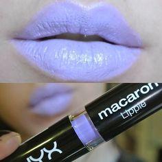 Nyx Macaron Lippie in Lavender. #purplelipstick #purplelips
