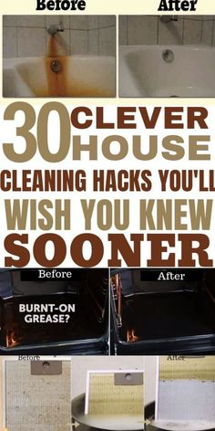 The best cleaning and household hacks. 30 tips and tricks for deep cleaning your home that you are going to wish you knew sooner. These Simple tips will make cleaning your home less of a chore. Household Cleaning Tips, Deep Cleaning Tips, House Cleaning Tips, Natural Cleaning Products, Clean House Tips, Bathroom Cleaning Tips, Deep Clean House, Spring Cleaning Tips, Cleaning Sink Drains