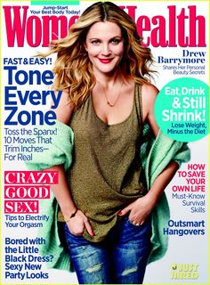 Drew Barrymore Covers 'Women's Health' December 2013 |