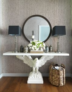 Thom Filicia-Showhouse Entryway, Copake Eagle console for Vanguard