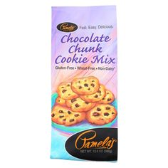 Pamela's Products Chocolate Cookie Mix - Chunk - Case Of 6 - 13.6 Oz.