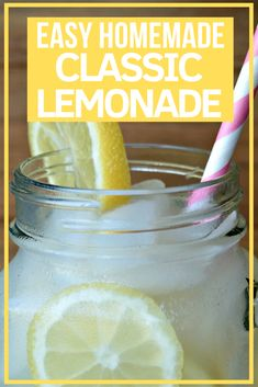 Do you love classic Chick-fil-a Lemonade? Try this SUPER easy Chick-fil-a lemonade copycat recipe and enjoy this delicious, sweet drink at home! Classic Lemonade Recipe, Easy Strawberry Lemonade Recipe, Pink Lemonade Recipes, Healthy Lemonade, Honey Lemonade, Homemade Lemonade Recipes, Vodka Lemonade, Lemonade Cocktail, Blueberry Lemonade