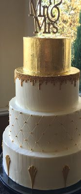 Penelope's Perfections Blog: How to Add Gold to Buttercream Wedding Cakes