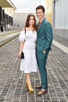 Ansel Elgort and Violetta Komyshan attend private dinner hosted by Miuccia Prada and Patrizio Bertelli during Milan Men's Fashion Week SS17 at Fondazione Prada on June 19, 2016 in Milan, Italy.