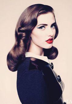 vintage hairstyles for long hair_chales梁 - 美丽鸟
