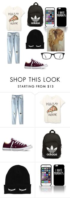 """first day in school"" by cecilia-isadora ❤ liked on Polyvore featuring Converse, adidas Originals, Ray-Ban, women's clothing, women's fashion, women, female, woman, misses and juniors"
