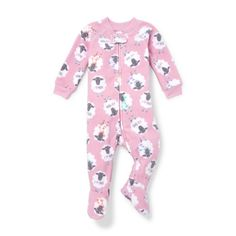 a59a374687 Sheep Print Footed Blanket Sleeper (Baby Girls  amp  Toddler Girls)