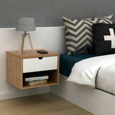 Farm Bedroom, Bedroom Bed Design, Modern Bedroom Design, Home Bedroom, Bedroom Decor, Smart Furniture, Furniture Design, Floating Shelves Diy, Diy Home Decor Projects