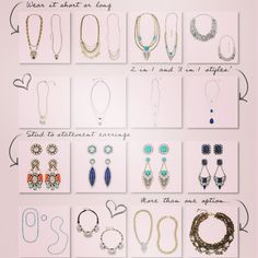I LOVE you getting a LOT of bang for your $$! Earrings and necklaces that can be worn multiple ways are the way to go. Lifetime Warranty, Hypoallergenic, Fashion Forward. Mix up your look this Spring! www.jewelry-DJ.com for Online Parties with uber generous rewards. #spring #fashion #jewelrydj #candi #chloe+isabel #letsparty #convertible #necklaces #earrings
