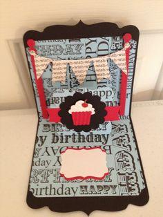Birthday Wish: Popn'cut dies by  Karen Burniston & Stampin up