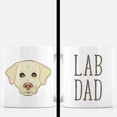 Lab Dad Coffee Mug  Yellow Lab Gift  White Lab Gift  Dog