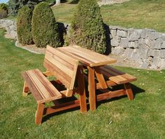 Folding Picnic Table To Bench Seat Free Plans How Awesome Is This - Folding picnic table bench seat combination
