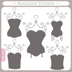 Corsets Silhouettes - corsets, bridal shower, shabby chic, lingerie shower…